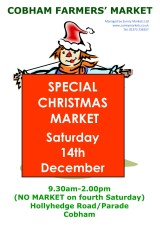 Christmas Cobham Farmers Market - 14 Dec 2013
