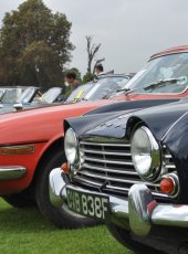 Triumph cars on show at the Classic Car display