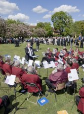 10 - The Cobham Band provide music before the ceremony begins