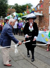 Elizabeth Kennedy the High Sheriff of Surrey cuts the ribbon