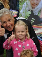 Nicholas Owen with the competition winner, Emma Roberts