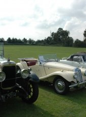 Cars on show at the Classic Car display