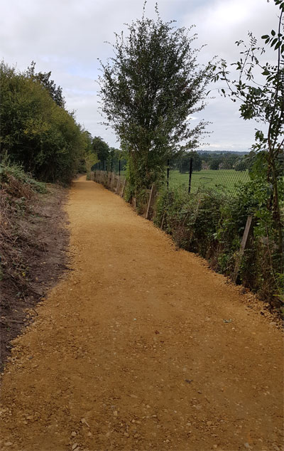 Knowle Hill Park Footpath Resurfaced Sept 2018