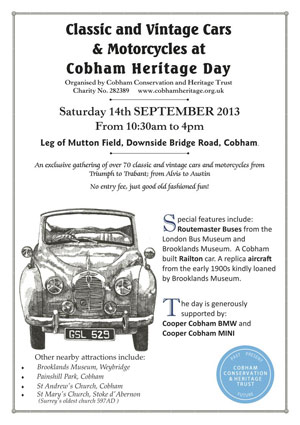 Classic Car Show - Cobham Heritage Day 2013