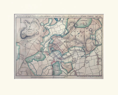Cobham 1779 Map Print with mount